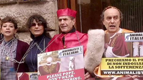 New pope's robes cause storm of protest