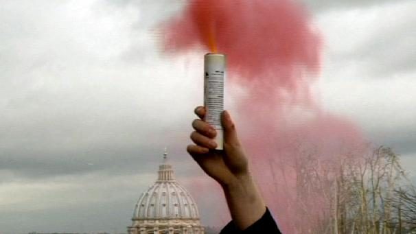 Pink smoke protest at the Vatican calls for women priests