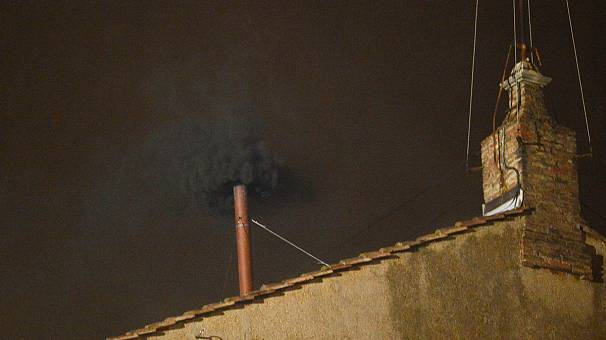 Black smoke summary on first day of papal conclave