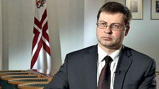 """Valdis Dombrovskis : """"l'euro facilitera la croissance lettone"""""""