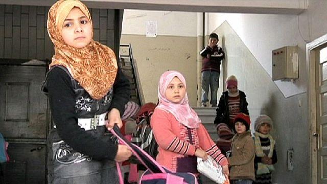 Suriye'de çatışmalara rağmen eğitime devam