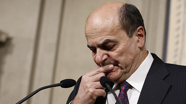 Bersani admits he can't form new Italian government