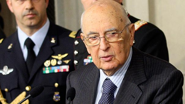 Italy's Napolitano: 'I will not abandon my country'