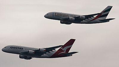 Sydney: Flypast marks Qantas-Emirates marriage