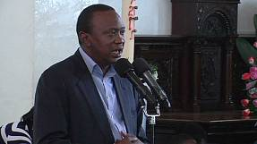Kenyatta thanks Kenyans for peace