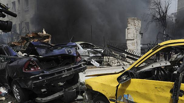 Car-bomb hits central Damascus, many dead