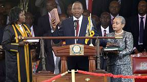 Kenyatta swears oath of office as Kenya's new president