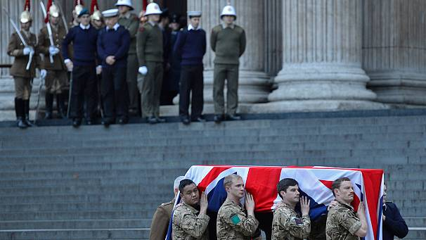 A preview of Thatcher's funeral at dress rehearsal in London
