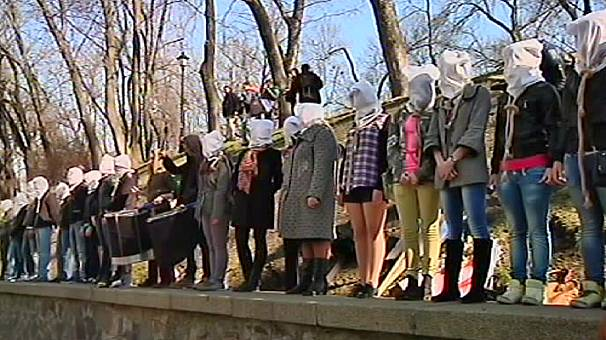 Ucrania: enfermos de SIDA, tuberculosis y hepatitis protestan en Kiev