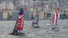 sport: Emirates Team New Zealand dominate fleet racing in Naples