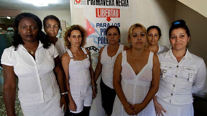 Le donne in bianco cubane finalmente a Bruxelles per ricevere il premio Sakharov del 2005