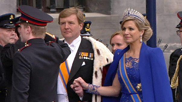 El rey y la reina: Guillermo-Alejandro I y Máxima de Orange