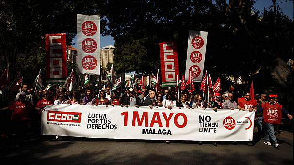 Record unemployment adds extra potency to Spain May Day protests