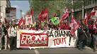 French far-left protest on eve of Hollande anniversary