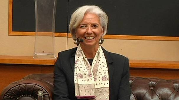 IMF`s Lagarde Interrupted by Student Protesters