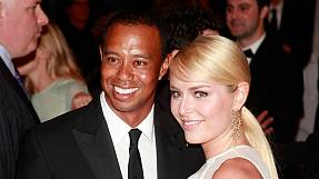 Woods-Vonn: amore sul red carpet per i paparazzi