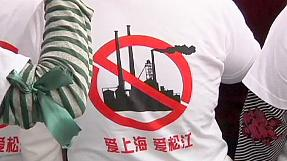 Protests in Shanghai against pollution