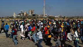 South African platinum miners strike over killing