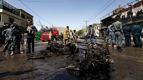 Bombing by Taliban-linked group targets foreign forces in Kabul