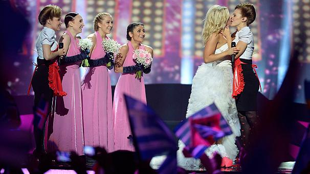 Lesbian kissers among the Eurovision 2013 finalists