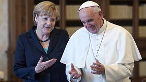 German Chancellor Merkel meets Pope Francis