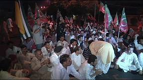 Protests and poll re-runs in Karachi