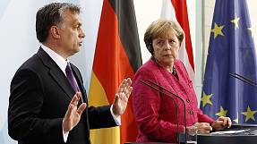 Germany and Hungary at odds over Orban 'tanks' comment