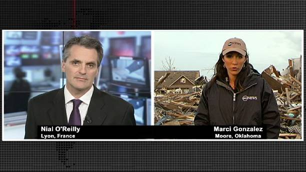 إعصار أوكلاهوما، دمار وخراب وهلع