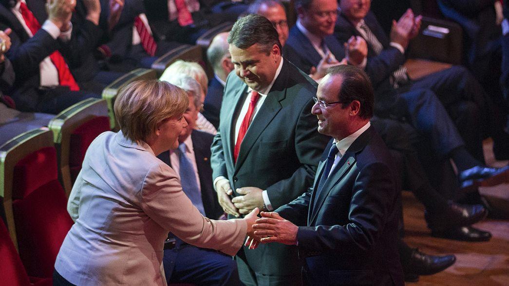 Hollande y Merkel: una pareja en plena crisis