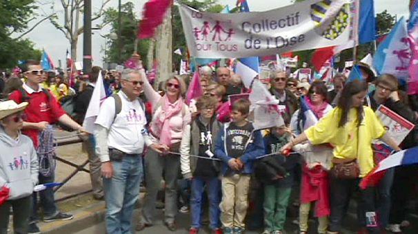 Wieder Proteste gegen die Homo-Ehe in Paris