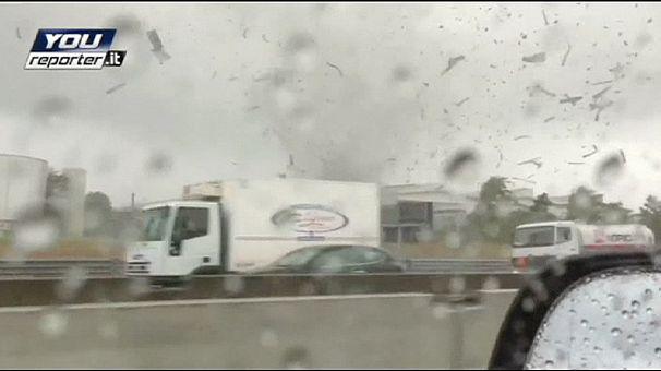 Un tornado provoca destrozos en el norte de Italia