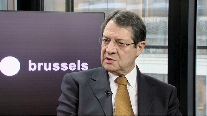 """Nicos Anastasiades, président de Chypre: """"réunification : non au chantage"""""""