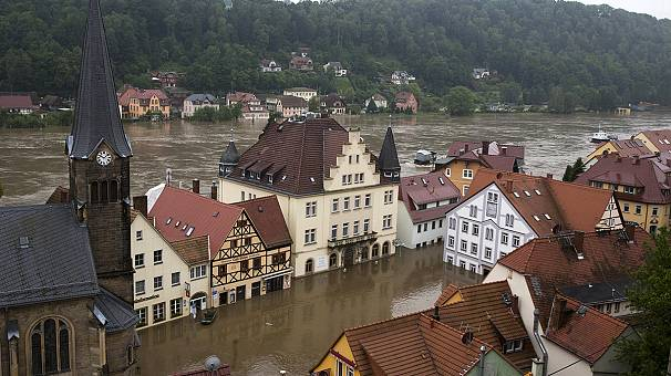 Flooding sweeps north in Europe