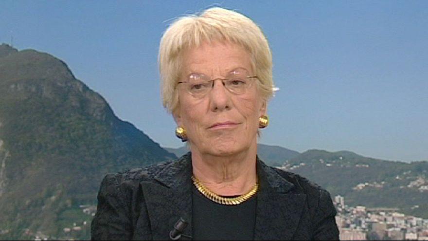 """Carla del Ponte: """" No habrá paz sin justicia"""""""
