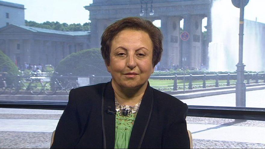 """شيرين عبادي: """"إيها الشعب الأيراني، قاوم للحصول على حقوقك"""""""