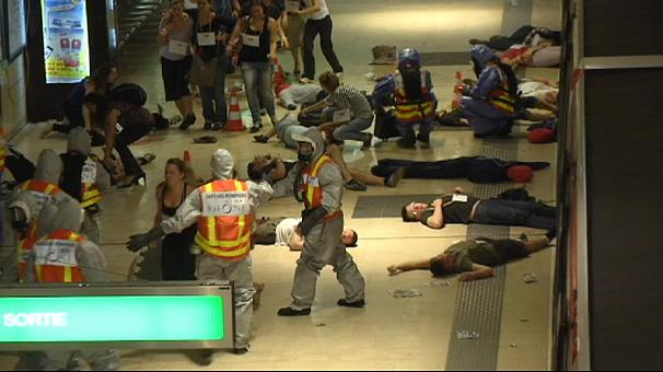 Europe's emergency services simulate disaster in Lyon