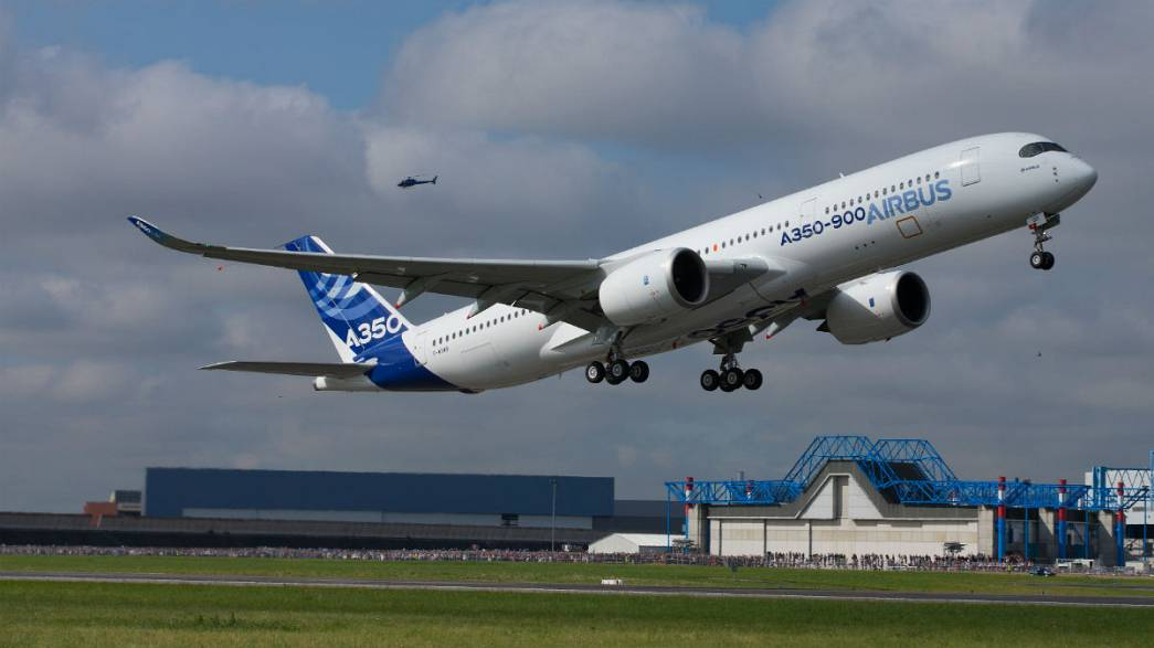 Lift off for the new Airbus A350