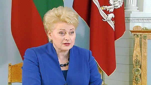 """Dalia Grybauskaite, presidenta lituana: """"Lituania no necesita un referéndum para entrar en la zona euro"""""""