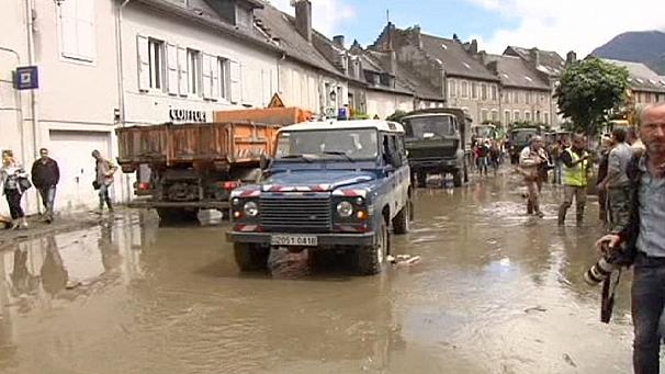 Heavy rains continue devastation in Switzerland and France