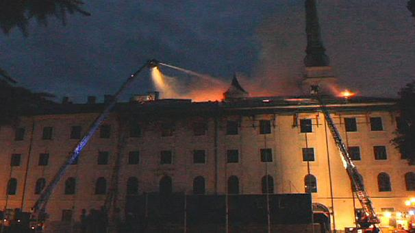 Riga Castle damaged in blaze
