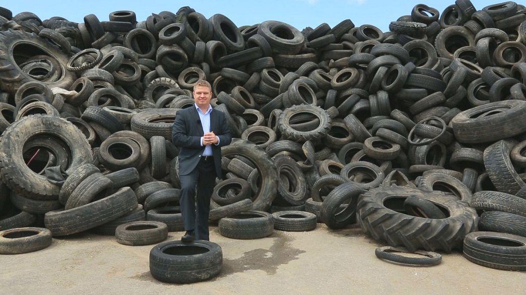 В Хорватии от шума защищаются старыми шинами