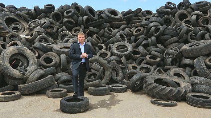 Neumáticos reciclados para construir muros