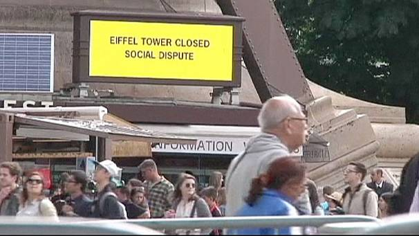 Eiffel Tower shut down by strike