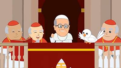 Pope Francis gets animated