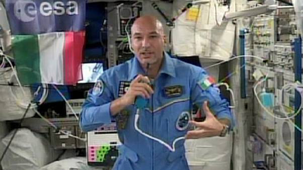 Luca Parmitano on board the International Space Station