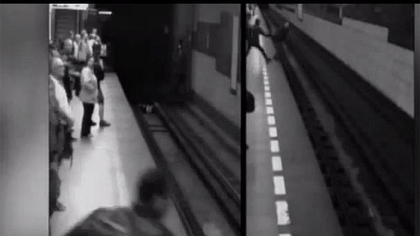 Prague : une jeune femme tombe sous un métro et en sort indemne