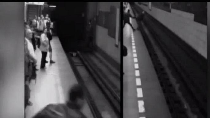Sértetlen maradt a metró alá eső nő