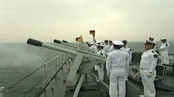 Rússia e China em treino militar