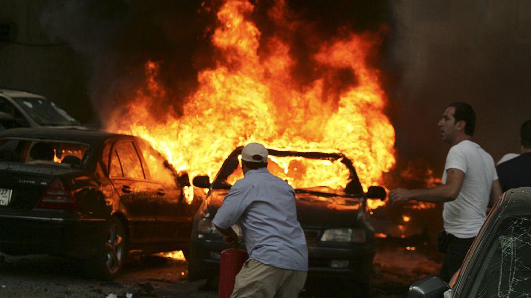إصابة العشرات جراء إنفجار سيارة مفخخة في الضاحية الجنوبية لبيروت