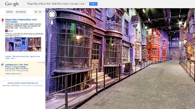 Google maps out the fictional world of Harry Potter